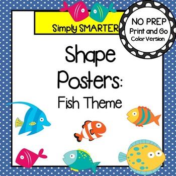 SHAPE POSTERS:  FISH THEME