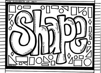 SHAPE coloring sheet