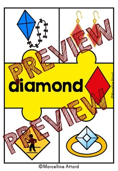 REAL LIFE SHAPES: 2D SHAPES PUZZLES:  FLAT SHAPES ACTIVITIES: GEOMETRY CENTER
