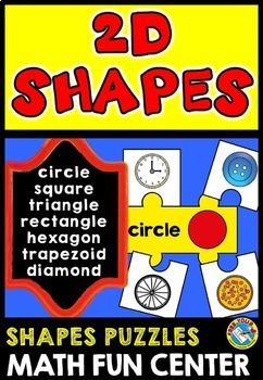 REAL LIFE SHAPES: 2D SHAPES PUZZLES:  FLAT SHAPES ACTIVITI