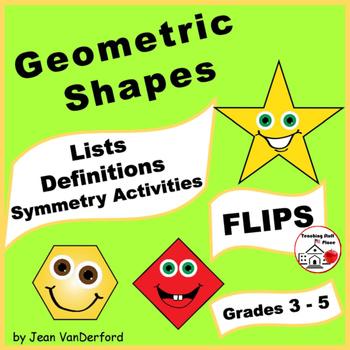 GEOMETRIC SHAPES | 2D & 3D Interactive | Symmetry | Math  FLIP Books ♥ Gr. 3-4-5