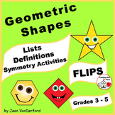 GEOMETRIC SHAPES | 2D & 3D Interactive | Symmetry | Math  FLIP Books ♥ Gr. 3-4-5