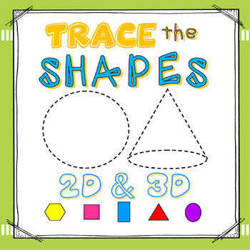 SHAPES:  2D & 3D Write & Wipe Cards (24 Shapes / 6 Differentiated Sets)