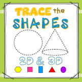 SHAPES:  2D & 3D Write & Wipe Cards (24 Shapes / 6 Differe