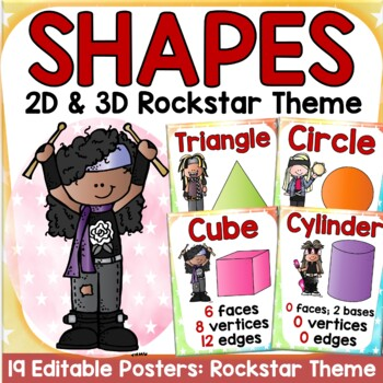 SHAPES: 2D AND 3D SHAPES: ROCKSTAR THEME