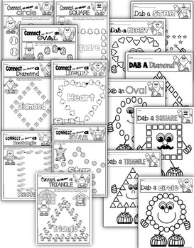 SHAPE WORKSHEETS FOR KINDERGARTEN 60+ 2D & 3d SHAPES WORKSHEETS