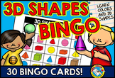 3D SHAPES BINGO GAME (SOLID SHAPE RECOGNITION ACTIVITY)