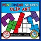 PENTOMINO SHAPES CLIPART: GEOMETRY CLIPART: MATH CLIPART