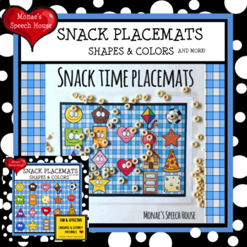 SHAPES & COLORS snacks TIC TAC TOE Speech Therapy GAME BOARDS