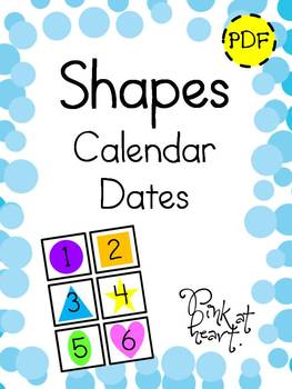 SHAPES - Calendar Dates
