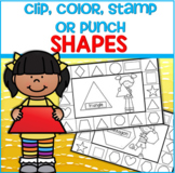 SHAPES Clip, Color, Stamp or Punch Cards