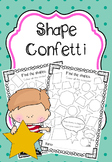 SHAPES - Confetti, Find the Shape, Count the Shapes No Pre