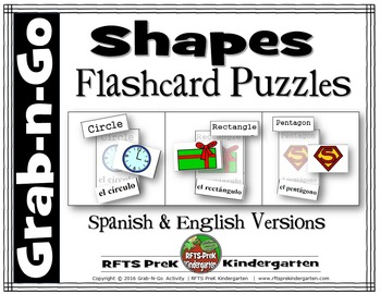 SHAPES LEARNING PUZZLES. (Grab-n-Go $1 Deal)