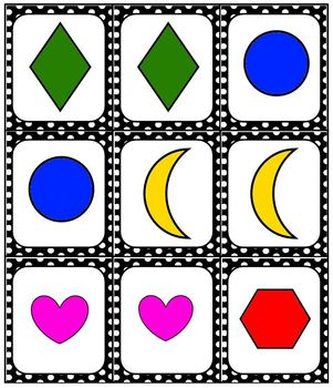 SHAPES Game Set Pack Bingo Dominoes Match Memory