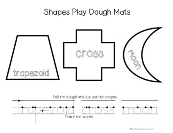 SHAPES PLAYDOUGH MATS
