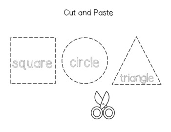 Practice 2D Shapes and Shape Words Playdough Mats FREE