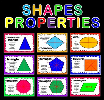 SHAPES PROPERTIES POSTERS TEACHING RESOURCES DISPLAY KS1-4 MATHS