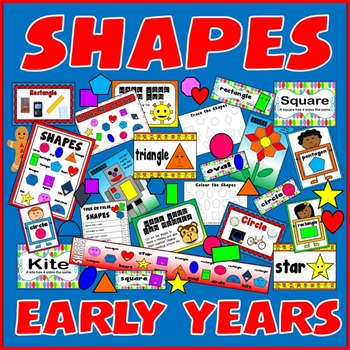 SHAPES RESOURCES - early years key stage 1-2 DISPLAY POSTERS MATHS NUMERACY