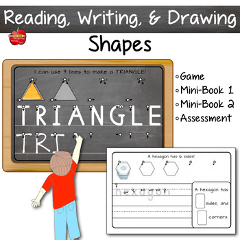 SHAPES: Read Write Draw & Analyze ~ Leveled & Differentiated Instruction