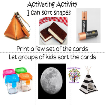 SHAPES SORTING ACTIVATING ACTIVITY