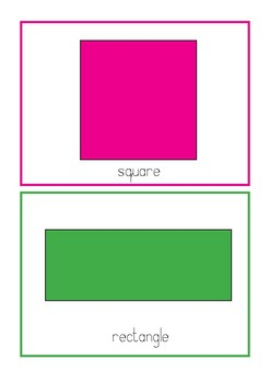 SHAPES - Simple Flashcards in Colour!