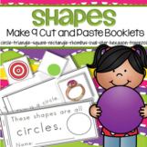 SHAPES Activities - Make 9 Booklets Cut and Paste