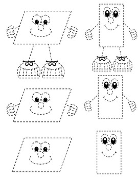 2D SHAPES TRACING CLIP ART