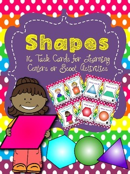 SHAPES Task Cards for Math Centers or Scoot Activity