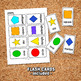 SHAPES WORKSHEET ACTIVITIES– Digital file, Shapes Flashcards, Math Activities