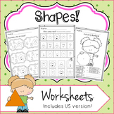 SHAPES UNIT Activities No Prep Worksheets