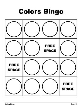 SHAPES and COLORS BINGO Make & Take, SPEECH THERAPY, Vocabulary, Concepts