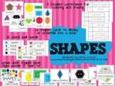 SHAPES - flashcards, wall display, big book, worksheets, w