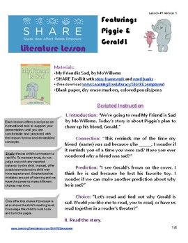 SHARE Literature Lesson #1_ My Friend is Sad by Mo Willems