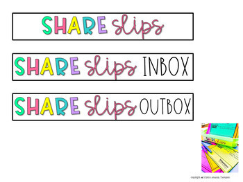 SHARE SLIPS: Home-to-School Connections made EASY! Dinner Table Chat!