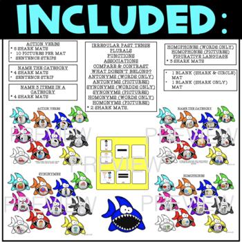 SHARK BITE, GAME COMPANION & MATCHING GAME, BUNDLE (SPEECH & LANGUAGE THERAPY)