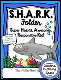 S.H.A.R.K. Folder Covers --- Ocean Themed Take Home Folder
