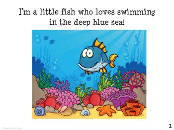 SHARK OCEAN BOOK Pre-K Speech Therapy Early Reader