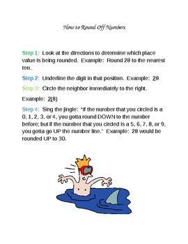 SHARK! Rounding to Nearest 10 Activity (Meets Learning Style Needs)