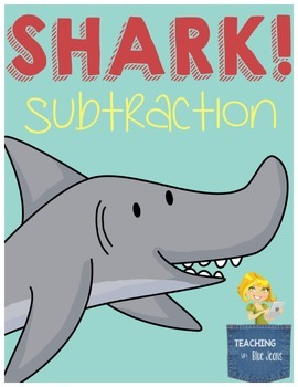 Shark Subtraction Center - Hands on Subtraction Practice with Picture Helps