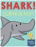 Shark Subtraction Center - Hands on Subtraction Practice w