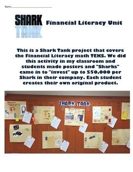 SHARK TANK - Financial Literacy TEKS - Profit, Expenses, Cost, Marketing