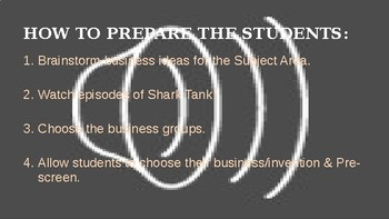 """SHARK TANK TIME MACHINE:  A """"How-To"""" Guide from Inception to Presentation"""