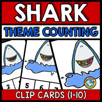 SHARK THEME PRESCHOOL COUNTING 1-10 ACTIVITIES (KINDERGARTEN NUMBER SENSE GAMES