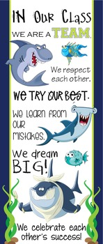 SHARKS - Classroom Decor: LARGE BANNER, In Our Class