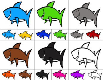 SHARKS Color Match Clip It {A Beginning Work Task)