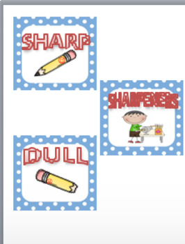 SHARP~DULL~ERASERS~SHARPENERS~PENCIL SIGNS