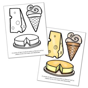 Coloring Page: Shavuot Delicacies! | Shavuot crafts, Shavuot ... | 350x350