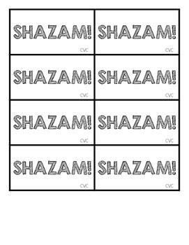 SHAZAM! CVC Flashcards and Fluency Game