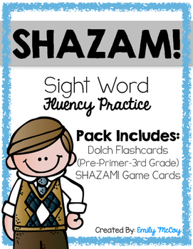SHAZAM! Sight Word Flashcards and Fluency Game