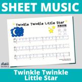 SHEET MUSIC Piano - Easy versions of Twinkle twinkle littl